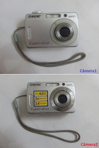 2x Câmera Sony Cyber-shot Dsc-s500 Com Defeito