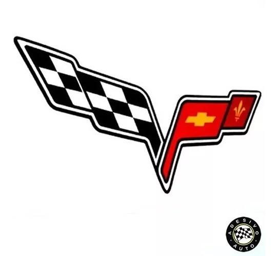 2 Adesivos Corvette Frete Grátis