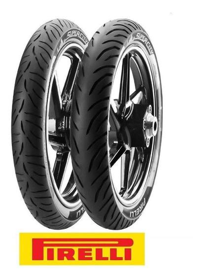 Pneu Dianteiro 80/100 Traseiro 100/80 Fazer/factor Pirelli
