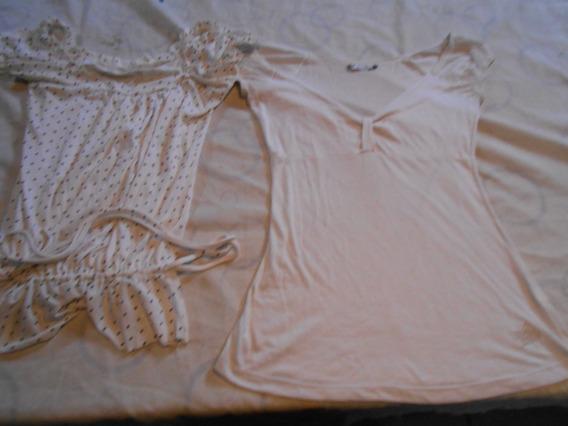 Son 2 Musculosas Scombro Blanca Y Otra Muy Bonitas!!