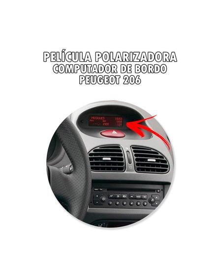 Película Polarizadora Computador De Bordo Peugeot 206