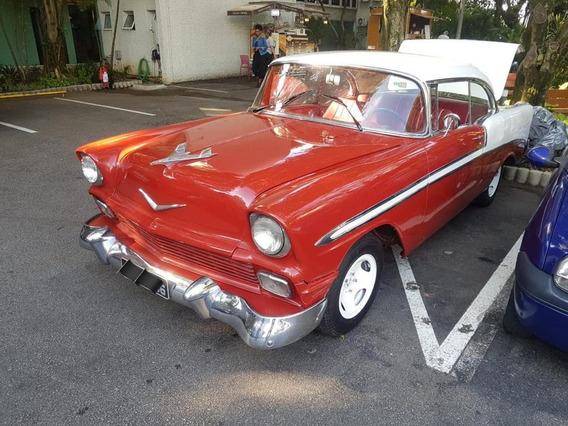 1956 Chevrolet Belair 2 Portas Sem Coluna V8 De Plaqueta