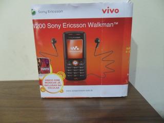 Celular Sony Ericson W200a Completo Na Caixa Op Vivo