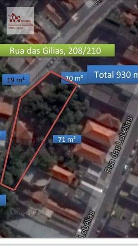 Terreno À Venda, 911 M² Por R$ 1.500.000,00 - Vila Bela - São Paulo/sp - Te0412