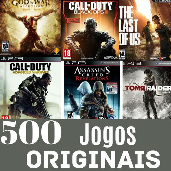 Thief Ps3 + Pacote De 500 Jogos Para Ps3