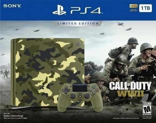 Console Ps4 Slim 1tb Edicao Call Of Duty Leia Descrição +