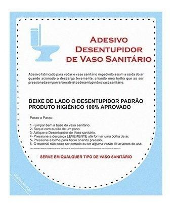 Adesivo Desentupir Vaso Sanitário - 03 Unidades Cr