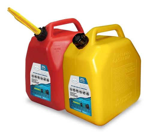 Bidon Combustible Gasolina Homologado 25 Litros- Con Pico