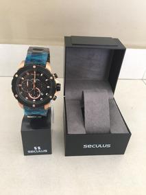 Relógio Seculus 10atm 13017gpsvia2 Preto