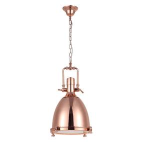 Pendente Vintage Retro Industrial Kitchen Bronze Ø36cm +luz