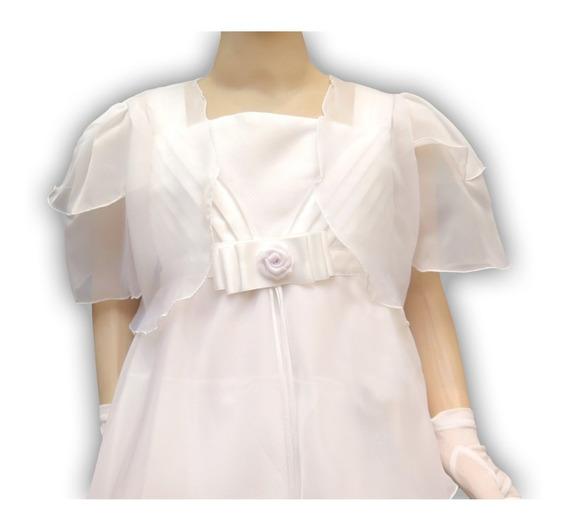 Vestido Comunion Corte Princesa Bolero Capas 420 Childrens