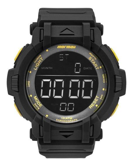 Relógio Masculino Mormaii Mom08111c/8y 56mm Borracha Preto