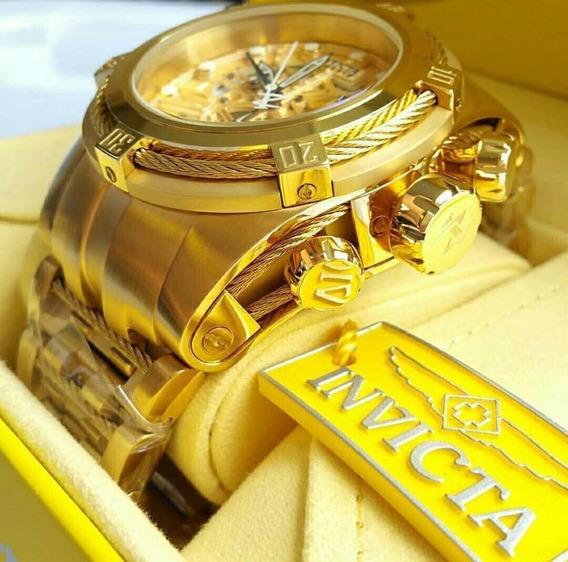 Relógio Invicta Bolt 12763 Banhado A Ouro 18k Nota Fiscal