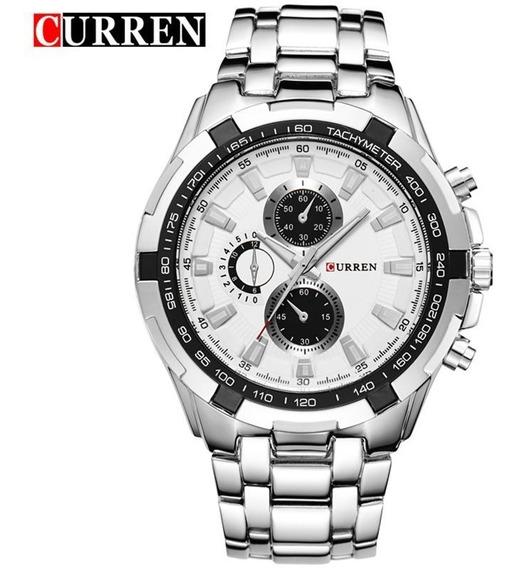 Relógio Masculino Curren 8023 Metal Pesado Original Promoção