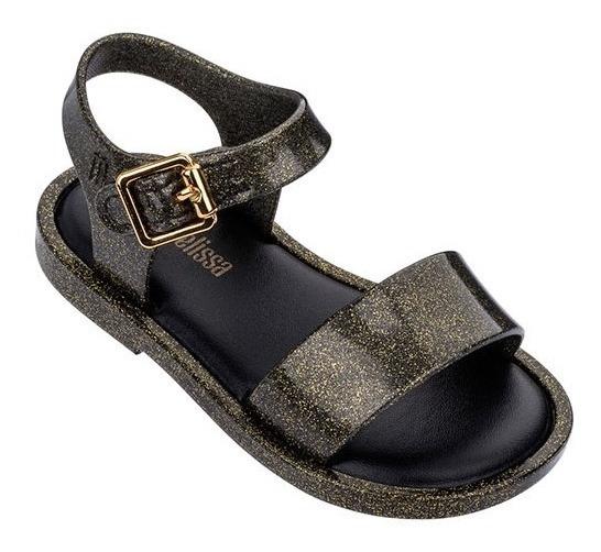 Sandalias Nena Mini Melissa Mar Sandal Iii Negro Glitter