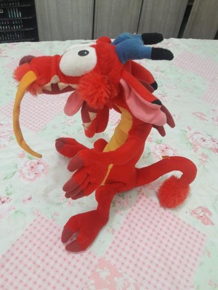 Dragão Do Desenho Mulan Pelucia 38 Cm Grande