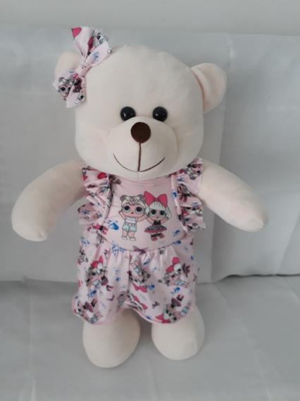 Urso De Pelúcia Ursinha Ursa Lol Com 45cm Crie Sua Amiga