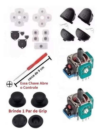 Ps4 - Super Kit Reparo Controle Ps4