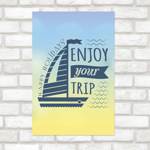 Imagem 1 de 2 de Poster Decorativo Viagem Enjoy N012165 30x40cm