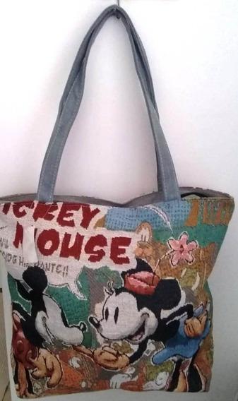 Mala Bolsa Mickey Minnie + Brinco