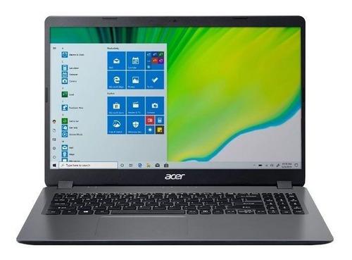 """Imagem 1 de 5 de Notebook Acer Aspire 3 A315-56 gray 15.6"""", Intel Core i3 1005G1  4GB de RAM 256GB SSD, Intel UHD Graphics 60 Hz 1366x768px Windows 10 Home"""