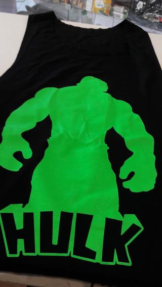 Camiseta Regata Cavada Musculação Fitness Menor Preço Hulk