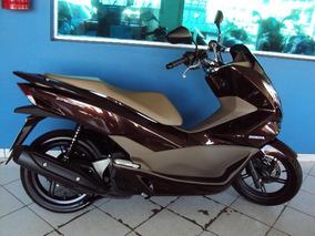 Honda Pcx 150 Dlx Marrom Modelo 2018 C/ 3300 Km Campinas Sp.