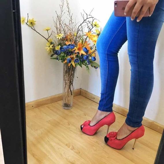 Zapatos De Mujer Con Plataforma Color Rosa Importados De Usa