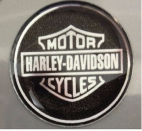 Adesivo Harley Davidson Escudo Prata Redondo 1,5cm T3at