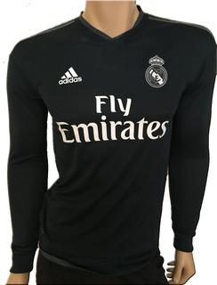 Jersey Real Madrid Clima Chill Visita 2018 19 Manga Larga