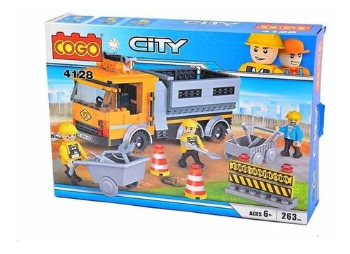 Cogo Camión De Construcción, 263 Piezas.