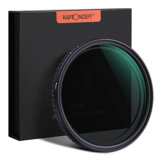 Filtro K&f Concept Nd2 - Nd32 Alta Definição, Compatível Com Qualquer Lente Com Boca De 82mm
