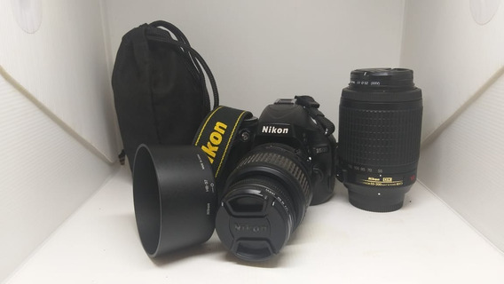 Camera D5100 Dlsr Nikon + Lente 55-200 + Bolsa + Acessorios
