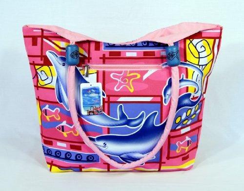 Impermeable Dolphin Design Canvas Canvas Tote Bag Cierre De