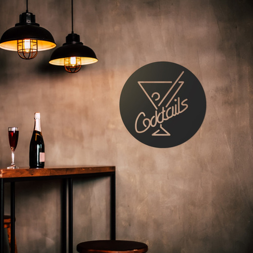 Quadro Decorativo Parede Bar Coktails 60cm