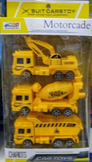 3 Mini Caminhões De Construção Infantil Barato