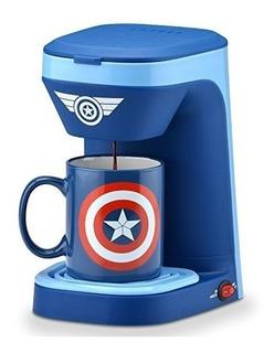 Marvel Capitan America Cafetera Electrica Personal + Mug