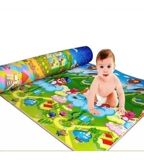 Tapete Atividades Bebe Infantil Portátil Conforto Grande