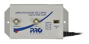 Amplificador Tv Digital 30db Pqal 3000 Proeletronic Vhf Uhf