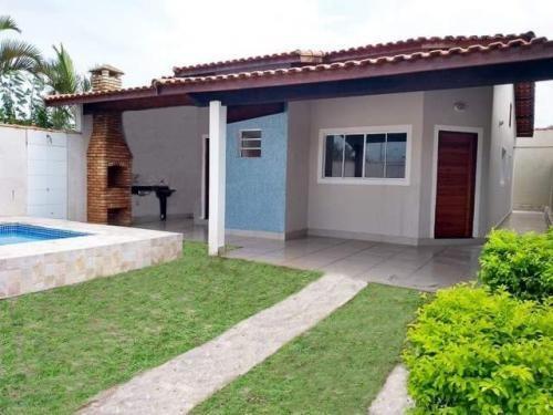 Casa Com Ótimo Acabamento E Piscina - Itanhaém 2924   Npc