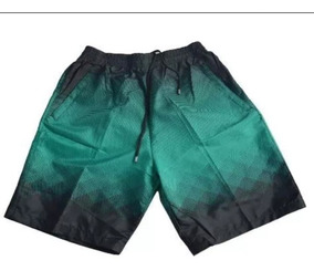 Short Praia Masculino Bermuda Banho Elastico Bolso Com Ziper