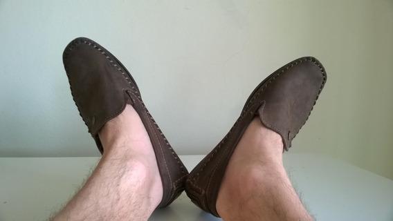 Sapato Pegada Original Em Couro Natural Usado Bom N°43