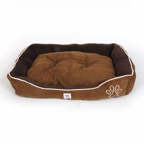 Cama Para Perro Doguiz Color Marrón Con Huella 75cm