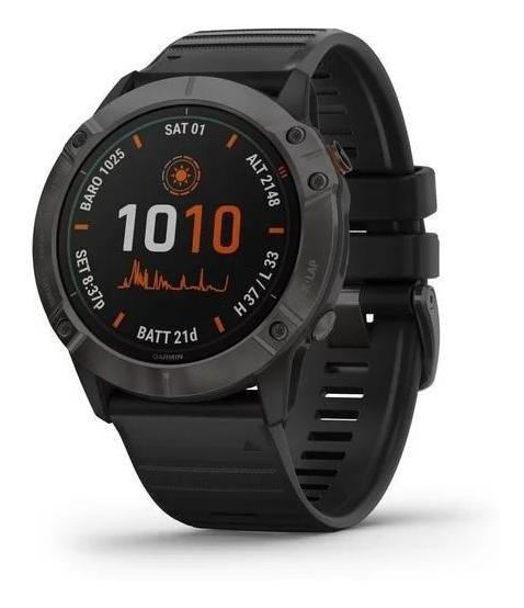 Reloj Gps Garmin Fenix 6x Pro Solar Titanio Power Glass