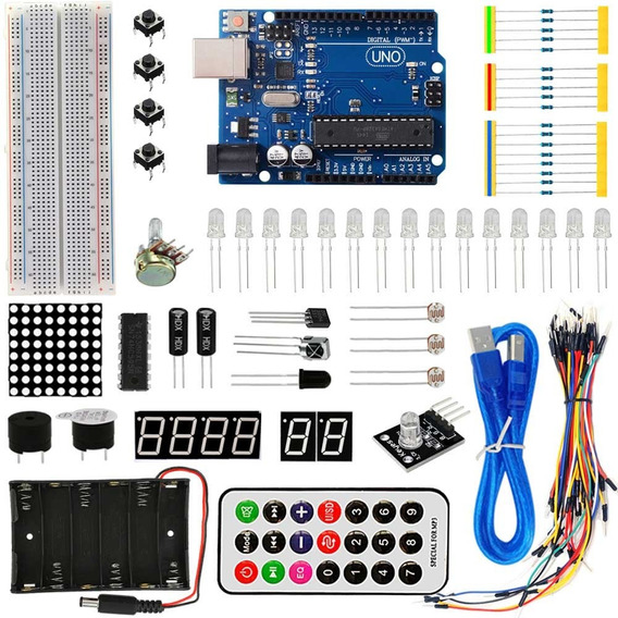 Arduino Starter Uno R3 Kit Básico Aprendizagem Frete Grátis