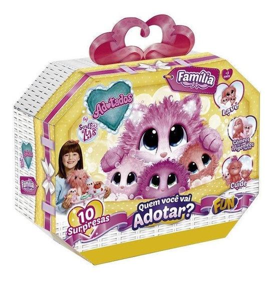 Brinquedo Fur Balls Pets Adotados Família Completa - Fun