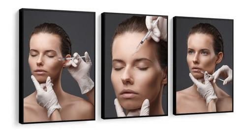 Quadro Decorativo Botox Estética Facial Clínica De Estética