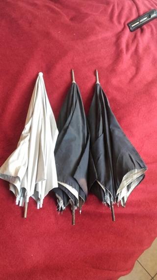3 Sombrinhas Translucidas Rebatedoras