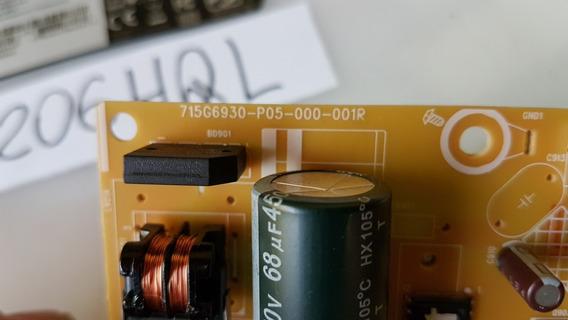 Placa Da Fonte Monitor Acer V206hql 715g6930-p05-000-001r