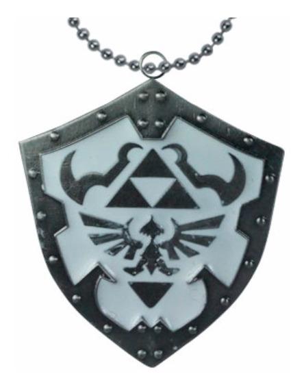 Legend Of Zelda Dije Collar Llavero Escudo Hylian Link